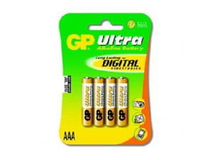 Батерия 1.5V Ultra Alkaline LR03 AAA GP Battery