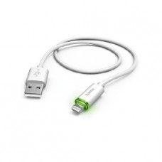 Кабел Apple Lightning to USB Wihte LED 1m 173619 Hama