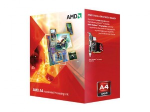 Процесор AMD CPU Desktop A4 X2 3300 2.5G 1MB BOX s.FM1