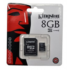 Flash Card Kingston MicroSDHC Card 8GB Class10