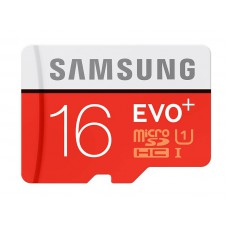 Flash Card Samsung 16GB micro SD Card EVO+ with Adapter MB-MC16DA/EU