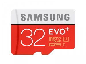 Flash Card Samsung 32GB micro SD Card EVO+ with Adapter MB-MC32GA/EU