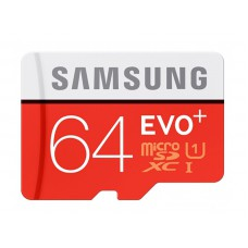 Flash Card Samsung 64GB micro SD Card EVO+ with Adapter MB-MC64GA/EU