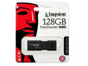 Flash Drive Kingston DT100G3 128GB Data Traveler 100 Gen3 USB3.0