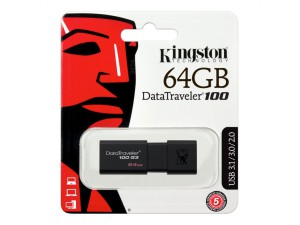 Flash Drive Kingston DT100G3 64GB Data Traveler 100 Gen3 USB3.0