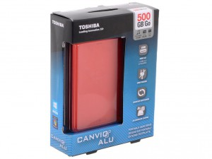 HDD External Toshiba 500GB Canvio ALU 3S Red HDTH305ER3AA