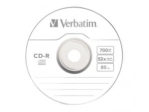 Media CD-R Verbatim 700MB 52x 80min