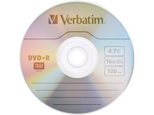 Media DVD+R Verbatim 4.7GB 16x 120min