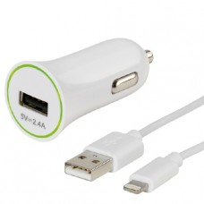 Зарядно за кола Apple Lightning 12-24V за iPhone iPad 2.4A 1m Vivanco 36277